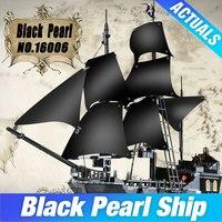 804pcs New LEPIN 16006 Pirates Of The Caribbean The Black Pearl Building Blocks Set Minifigures Legoe