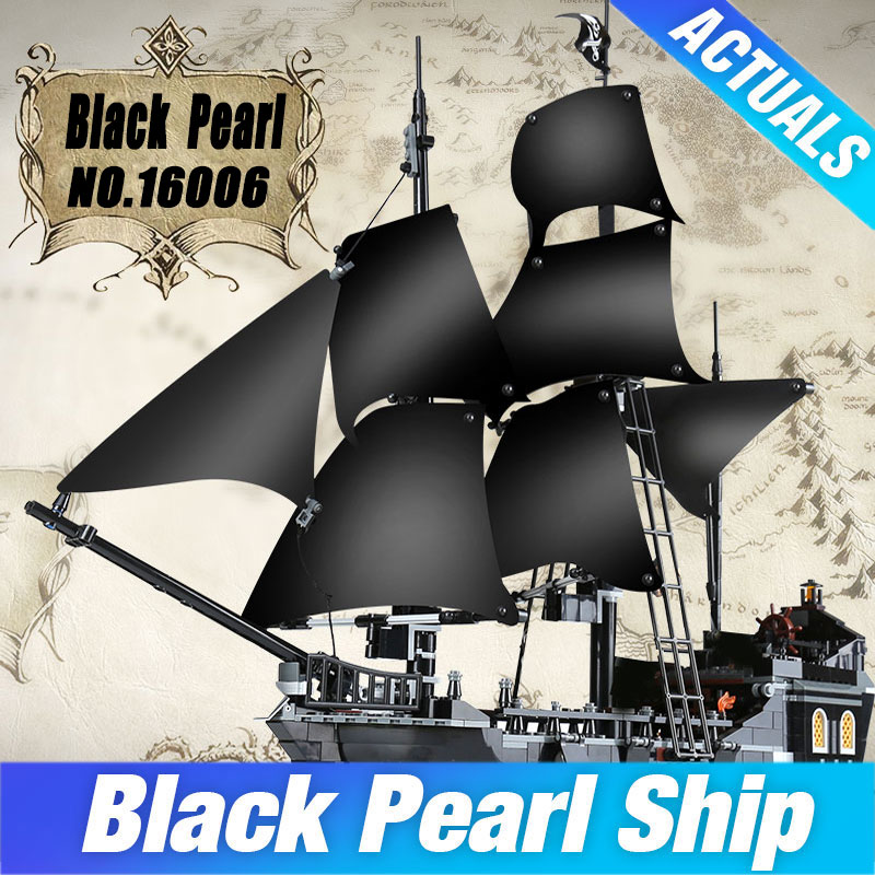LEPIN 16006 The Black Pearl 804pcs Pirates of the Caribbean Building Blocks Set 4184 Educational DIY Toys Birthday Gifts for Boy lepin 16006 804pcs pirates of the