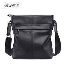 купить BAQI Brand Men Handbags Genuine Leather Cowhide Men Shoulder Bag Crossbody Messenger Bags 2019 Fashion High Quality Business Bag по цене 2507.55 рублей