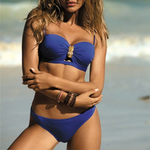 In-X Plus size swimwear women sexy bikini 2019 Push up micro swimsuit female bathers Bandage bathing suit beach two-piece suit