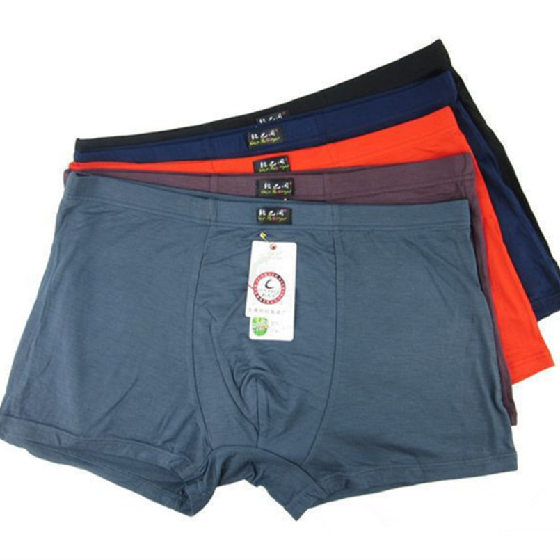 Bamboo Underwear Boxers Big-Size Male Plus 5pcs/Lot Top-Quality Xl--6xl