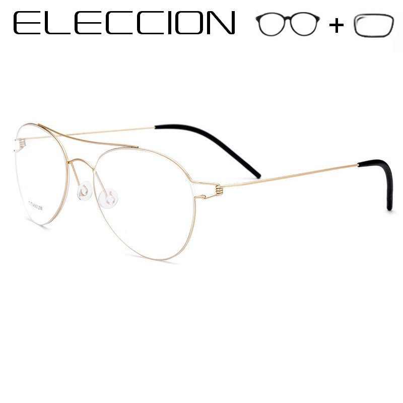 d390699455 Gafas de sol estilo coreano marcos ópticos con lentes de ojo miopía gafas  de titanio borde