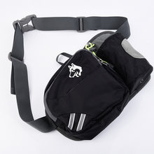 Черная уличная поясная сумка унисекс многофункциональный пакет