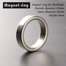 Diâmetro exterior 20mm do anel magnético 20*16*5mm do ímã da cauda da lanterna, diâmetro interno 16mm, alto 5mm