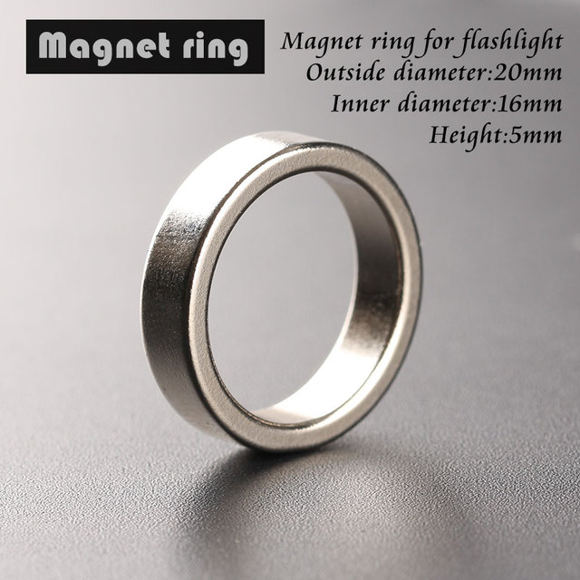 Flashlight tail magnet magnetic ring 20*16*5mm ring outer diameter 20mm, inner diameter 16mm, high 5mm