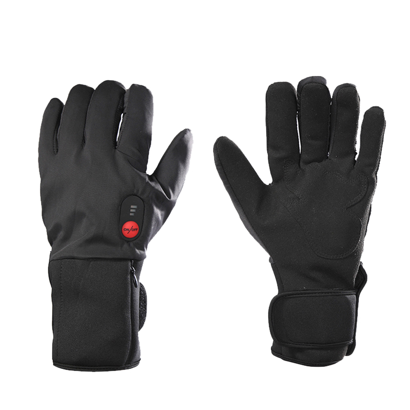 1Pair Winter Warm Heated Cycling Skiing Gloves Sports Full Finger Velvet Electric Rechargeable Battery Heated Gloves in Skiing Gloves from Sports Entertainment