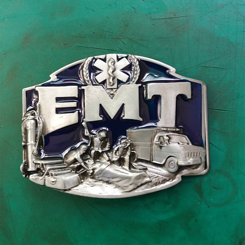 EMT Emergency Medical Technician Metal Fashion Belt Buckle