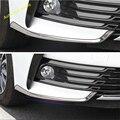 Передние противотуманные фары Lapetus лампа крышка для бровей Накладка подходит для Toyota Corolla 2017 2018 защита углов из нержавеющей стали