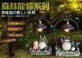 2017 Niños Encantadores de la Historieta Totoro juguete Popular Pequeño Dormitorio Lámpara de Mesa de Estudio de Arte de la Resina Decoraciones