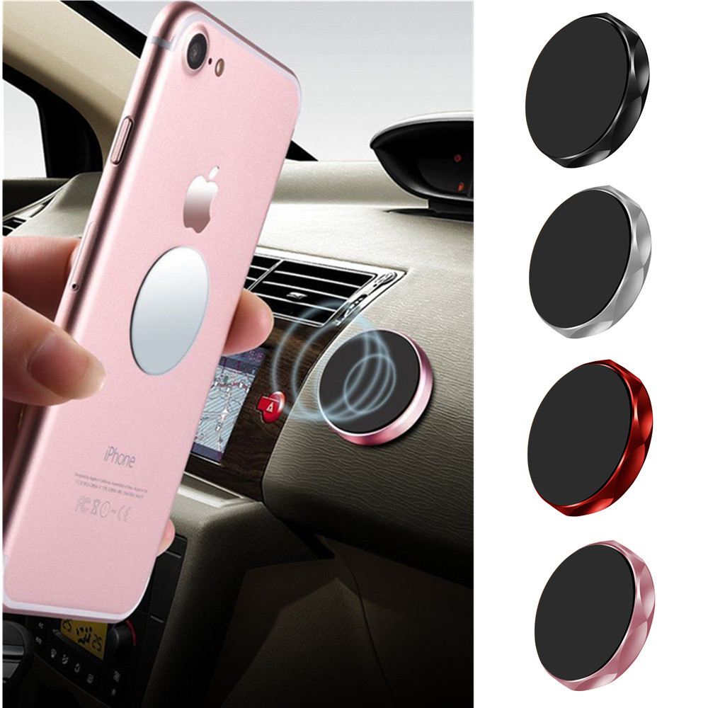 Mini Magnetic Car Phone Holder Universal Wall Desk Metal Magnet Sticker Mobile Stand Phone Holder Car Mount Support Suitable For Men Women And Children