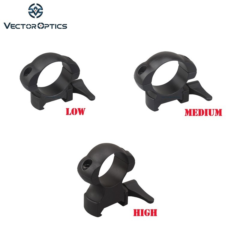 Vector Optics 30mm 1 Steel Weaver Ring Mount for Riflescope Hunting