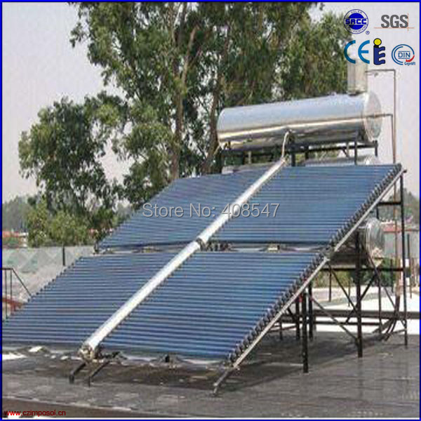 slope roof low pressure all glass tube solar collector