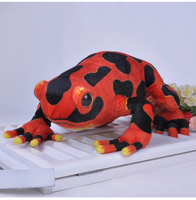 large 40cm simulation red frog plush toy doll birthday gift b0339