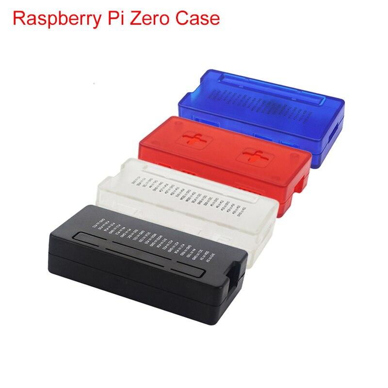New Raspberry Pi Zero W Case Red Blue Black Transparent ABS Plastic Box GPIO Reference Case For RPI Zero 1.3 W