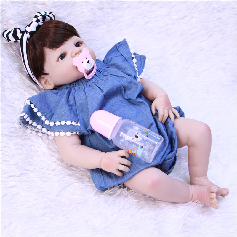 55cm girl reborn babies doll silicone bebe bown eyes reborn baby born toys gift deni bown encyclopedia of herbs
