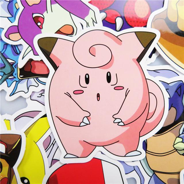 Pokemon Pegatinas Impermeables Lindas 100 Piezas/Set