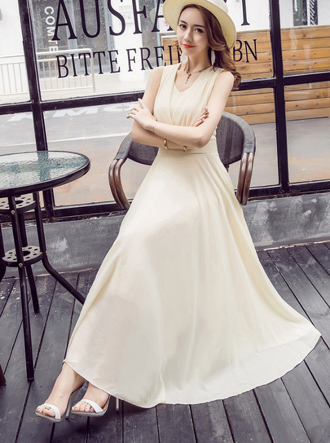 2018 Spring And Summer Dress Elegant Wonem Longuette Fashion Plus Size Temperamental Party Dresses Sexy Slim Comfortable Dresses 4
