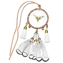1 Piece Car Creative Rear-view Mirror Hanging Ornament Handmade Dream Catcher Feather Wind Chimes