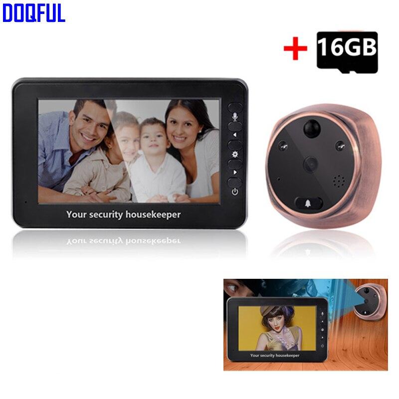 4.3 Inch TFT Monitor Video Door Bell Camera 1.3MP 160 Degree Door Viewer Peephole Doorbell Home Security 16GB SD Card Recording4.3 Inch TFT Monitor Video Door Bell Camera 1.3MP 160 Degree Door Viewer Peephole Doorbell Home Security 16GB SD Card Recording