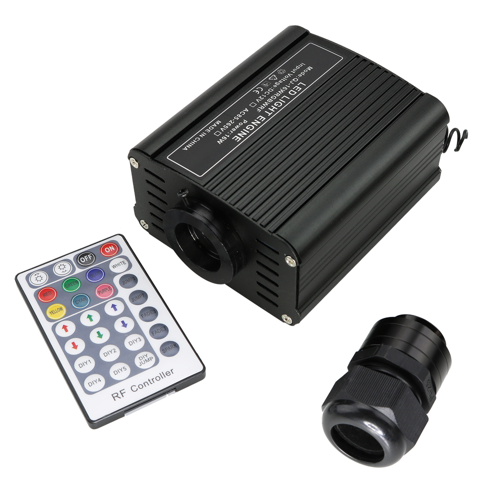16W RGBW LED Fiber Optic Light Engine Driver+28Key RF  Remote Controller for Christmas Decorations for Home16W RGBW LED Fiber Optic Light Engine Driver+28Key RF  Remote Controller for Christmas Decorations for Home