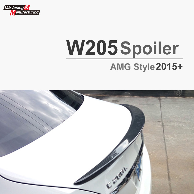 2015 2016 AMG style w205 carbon fiber rear trunk spoiler wings for mercedes C class c180 c200 c250 c300 c350 c400 c450 c220 2015 2016 amg style w205 carbon fiber rear trunk spoiler wings for mercedes c class c180 c200 c250 c300 c350 c400 c450 c220