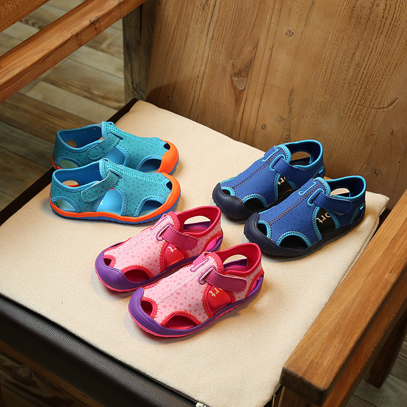 2019 Summer Paragraph 26-36 Code Hit Color  Boys Casual  Sandals Outdoor Beach Shoes