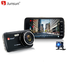 Junsun 4.0″ IPS Car DVR Camera Dual Lens Dash Cam FHD 1080P with Rear view Auto Registrator Digital Video Recorder Camcorder