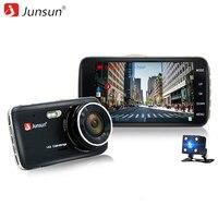 Junsun 4 0 Car DVR Camera Dual Lens Full HD 1080P With LDWS ADAS Rear View