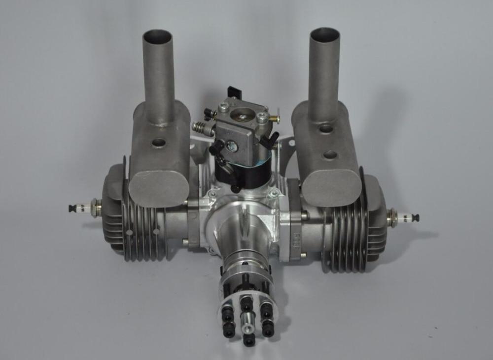 RCGF 60cc Dual / Twin Cylinder Petrol / Gasoline Engine for RC Model Airplane xyz 53s ts 53cc double cylinder two stroke gasoline engine petrol engine for rc airplane