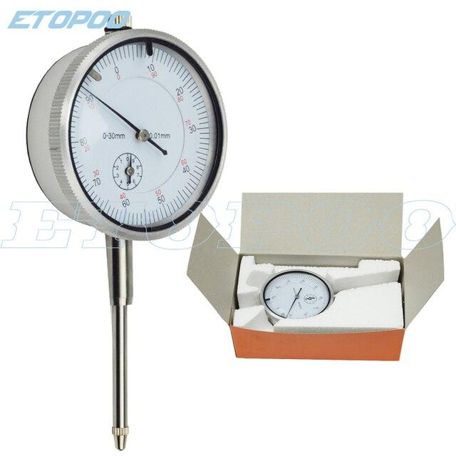 Herramienta de precisión 0-10mm 0-25mm 0-30mm Indicador de Dial 0,01mm precisión instrumento de medición de herramientas