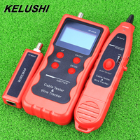 KELUSHI Newest NF 868 English version Network Cable Tester Wire Tracker Cable Scanner Breakpoint Tester FOR RJ45/RJ11/BNC/USB