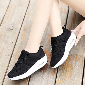 Image 5 - MWY Frauen Casual Plattform Schuhe Mode High Heels Schuhe Frau Zwängt Frauen Weiße Turnschuhe Schuhe Heigh Erhöhung zapatos mujer