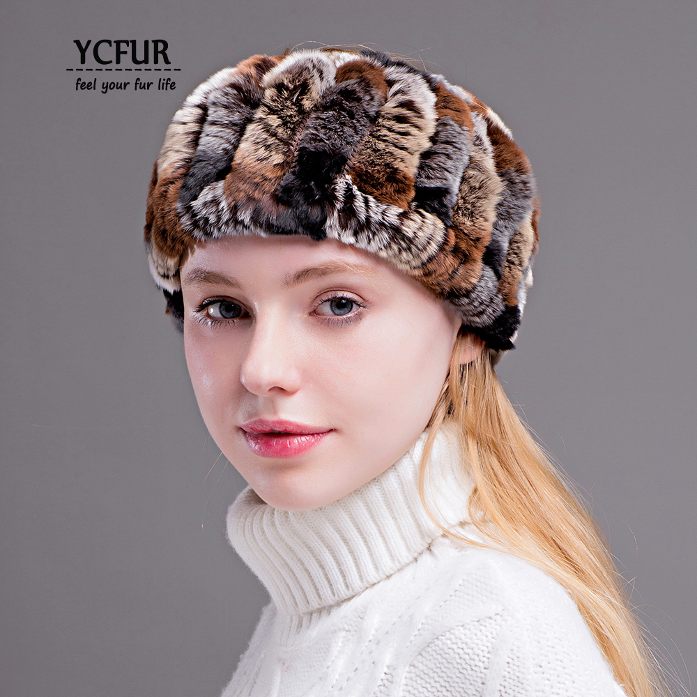YCFUR Women Headband Turban Scarf Real Fur Hair Bands Scarves For Girls 2 Uses Elastic Ring Scarf Headbands For Women