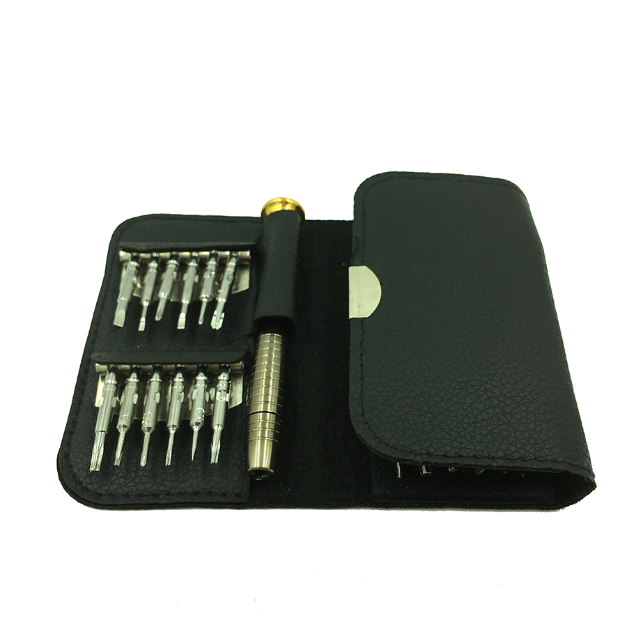 Купить с кэшбэком 25 in 1 Multifunction Screwdriver set kit for PC  Phone repair tool set   kit hand tool set  leather case pocket screwdriver
