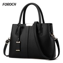 FOROCH Brand Women Bag Top-handle Bags Female Handbag Designer Hobo Messenger Shoulder Bags Evening Bag Leather Handbags sac 352
