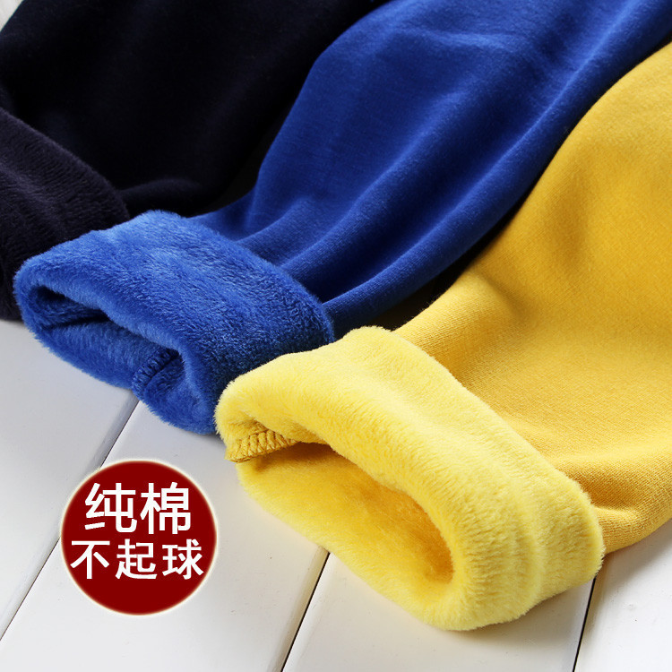 New children's winter plus thick velvet leggings foreign trade children not inverted cashmere warm pants boys girls bottoming children autumn and winter warm clothes boys and girls thick cashmere sweaters