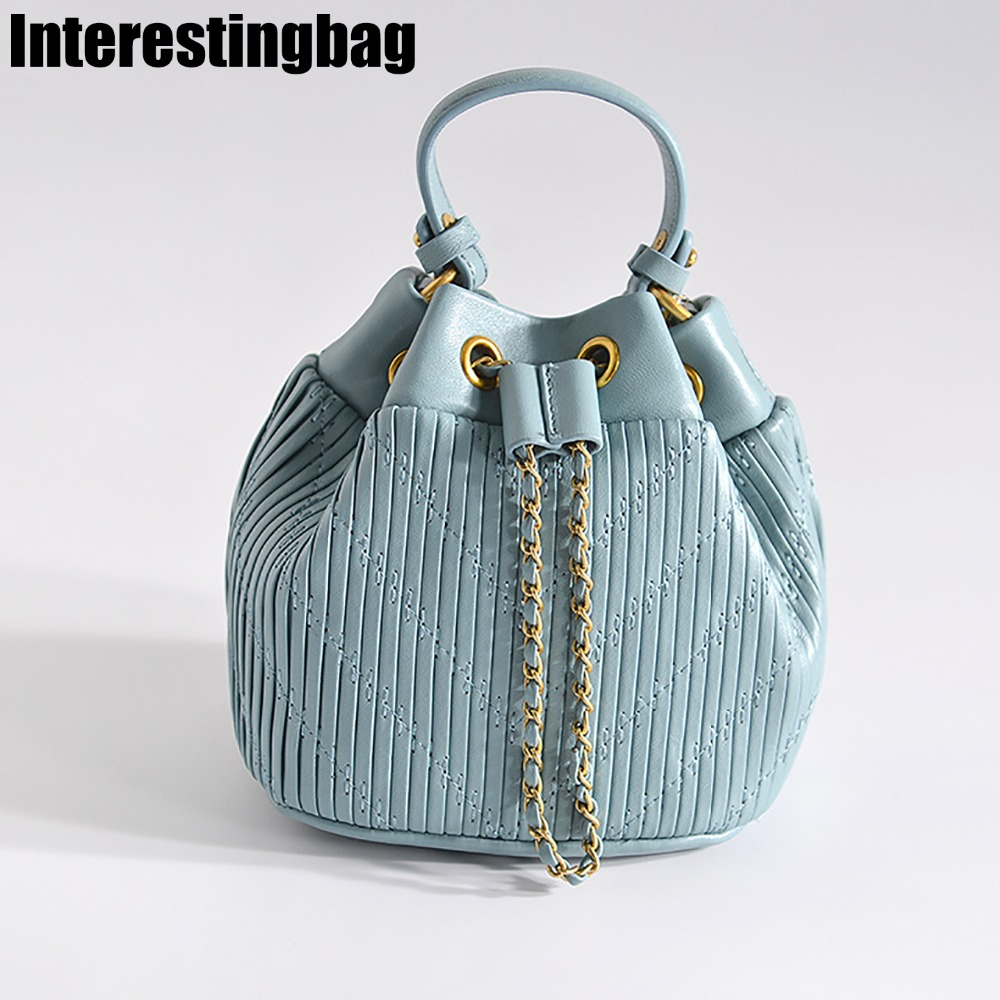 INTERESTINGBAG 2019 Luxury Designer High Quality Bucket Purse And Handbag,Leather Corssbody Bag For Women,Ladies Shoulder BagINTERESTINGBAG 2019 Luxury Designer High Quality Bucket Purse And Handbag,Leather Corssbody Bag For Women,Ladies Shoulder Bag