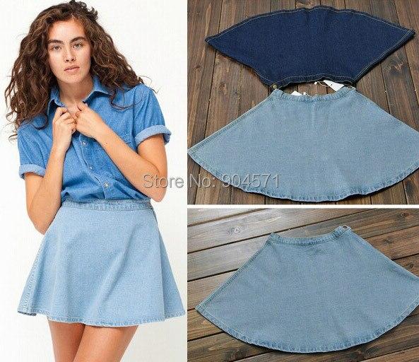 popular denim circle skirt buy cheap denim circle skirt