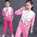 Chinese children clothing boutique pants and jacket suit  girls teenager clothes set
