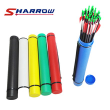 SHARROW Classic Leather Grain Retractable Arrow Six Color Optional Adult Youth Shooting Hunting Bamboo Carbon