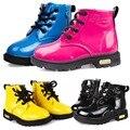 Мальчики девушка искусственная кожа зашнуровать высокие детей кроссовки детская обувь спорт осень зима дети сапоги