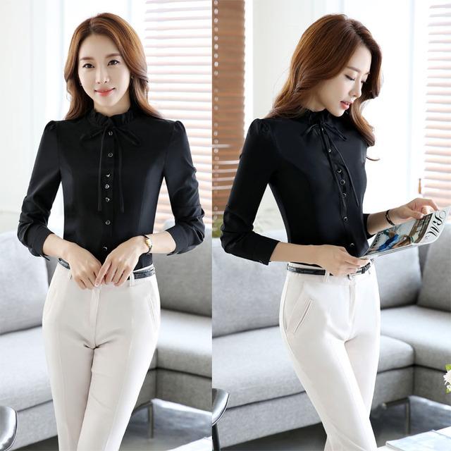 Estilos formais OL Feminino Pantsuits Com Tops E Calças de Forma Magro Ternos Trabalho Negócios Profissional Calças Das Senhoras Conjuntos