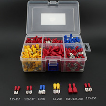 900pcs female spade terminal Crimp Connector and fully Insulated quick disconnect set Wire terminals connector