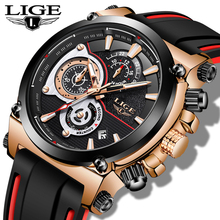 Reloj Hombre LIGE Mens Watches Top Brand Luxury Military Sport Watch Men Leather Waterproof Clock Quartz Wristwatch Reloj Mujer dom men watches luxury brand waterproof quartz clock leather strap business golden watch male dress wristwatch mens reloj hombre