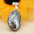 33*50mm Natural stripe Abalone seashells Pearl pendants Women Lucky jewelry making design diy gifts Series Retail and wholesale