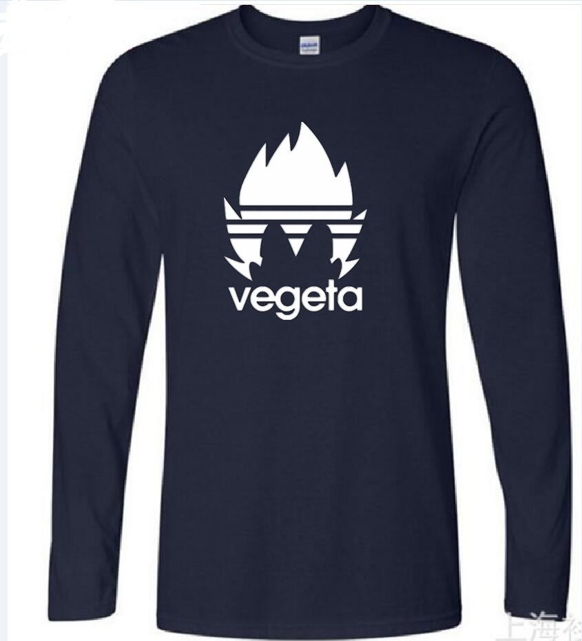 2018 vegeta burning fire new brand women t shirt cool guys diy long sleeve tees