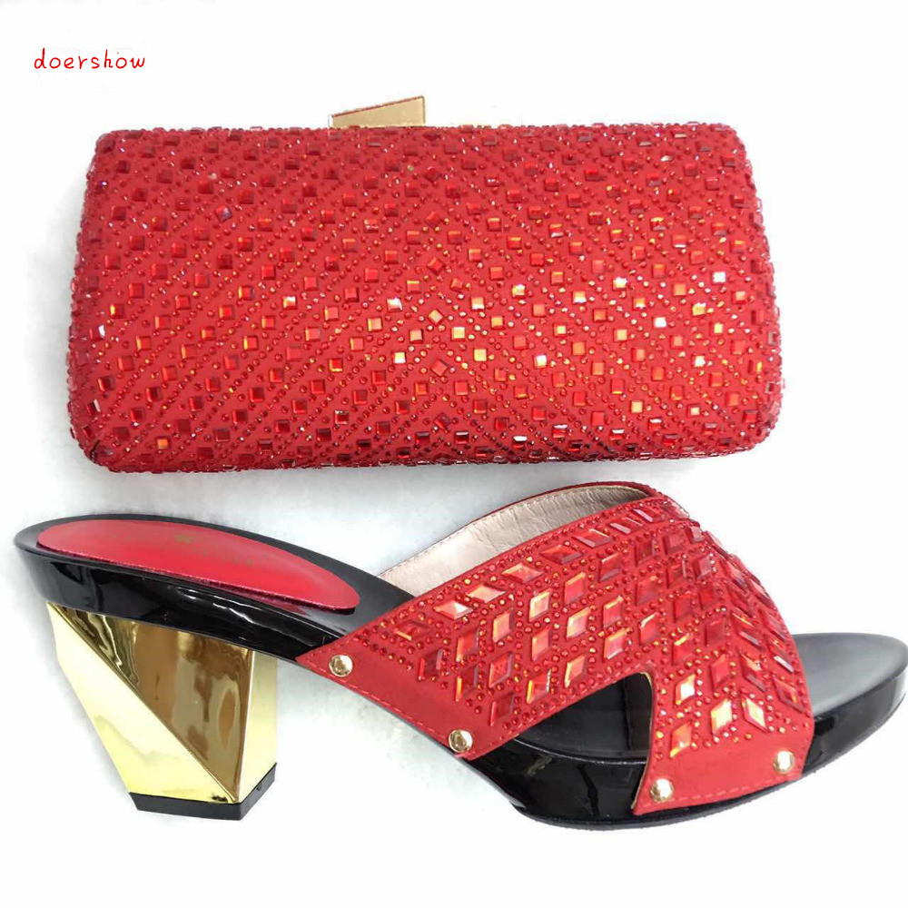 Italian Shoe with Matching Bag Sets African Woman Matching Italian Shoe and Bag Set Nigerian Shoes and Bag Set doershow TYS1-25 doershow italian shoe with matching bag silver african shoe and bag set new design matching shoes and bags for party bch1 7