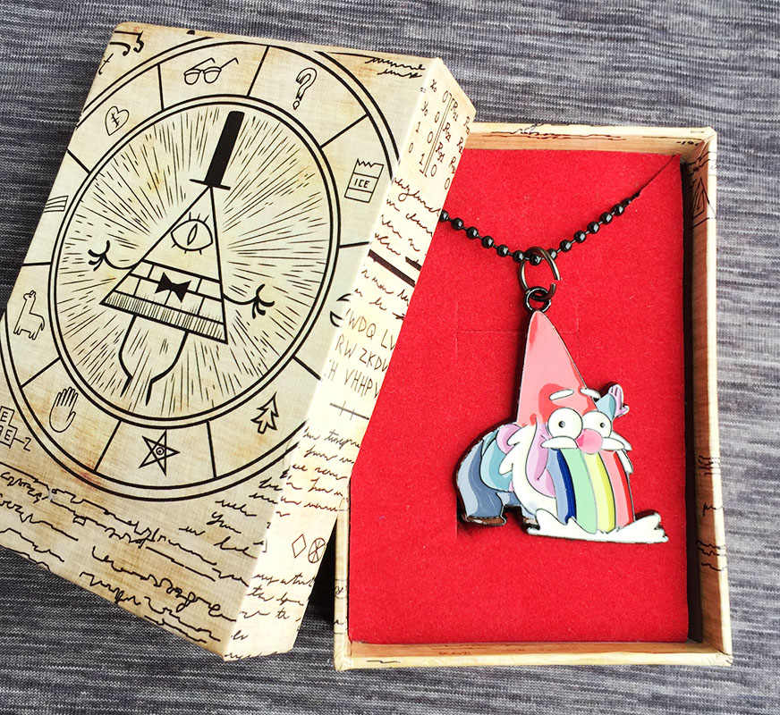 b934fa017 Barfing Gnome Alloy necklace Gravity Falls in gift box Cosplay Collection  Gift