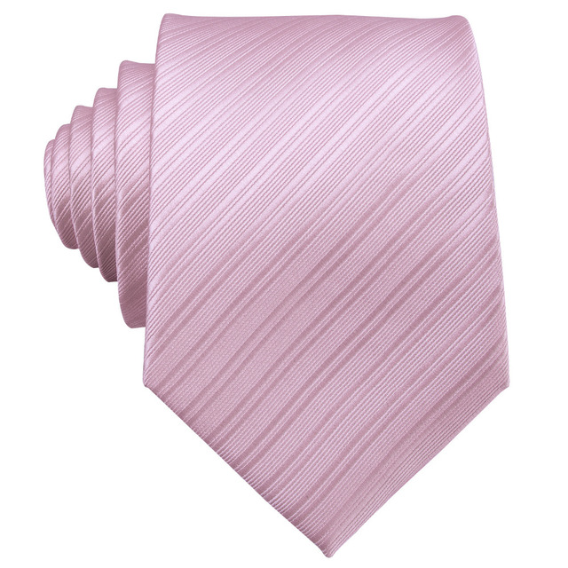 Hot Sale Wedding Pocket Square Pink Solid Ties For Men Suit Gravatas Corbatas 8.5cm Necktie Cravat Male Handkerchief Accessory