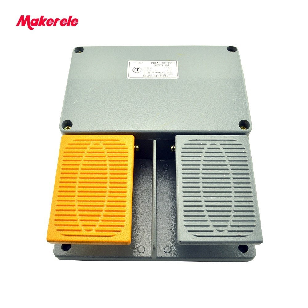 Double Pedal Foot Pedal Switch Industry IP67 Fender Foot Operated Switch MKYDT1 15S Free Shipping With